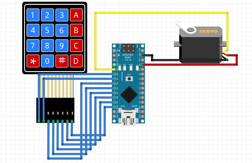 Tutorial Arduino Membuat Kunci Digital dengan Keypad dan Servo