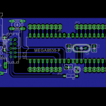 Sistem Minimum Atmega16/Atmega32 Design Skematik PCB Layout