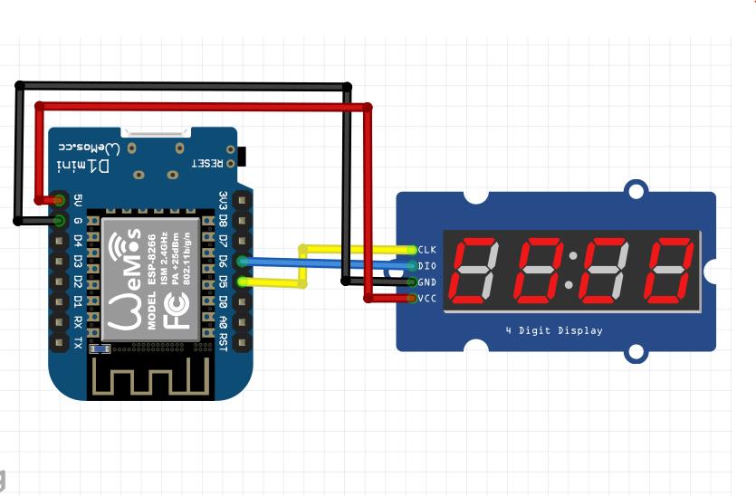 Membuat Jam Digital NTPClient.h dan TM1637.h ESP8266 NodeMCU Wemos NTP Server
