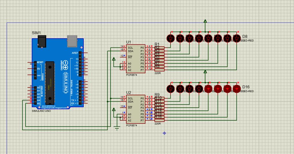 Dasar Arduino, Cara Memperbanyak Pin Digital Output I2C PCF8574 IO Expander