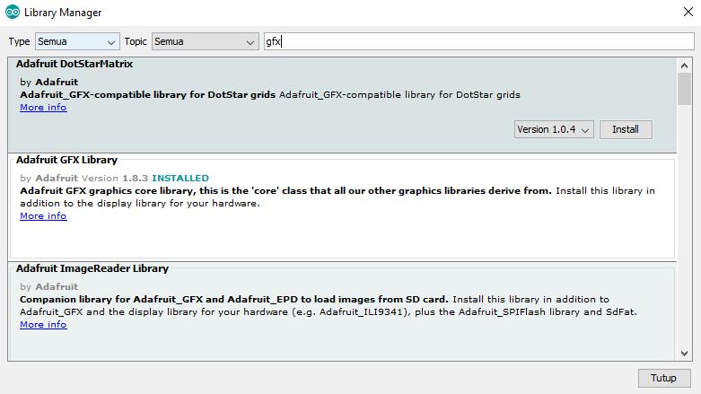 Mudah Mengakses Oled 0.96 Adafruit_SSD1306.h NodeMCU/Wemos