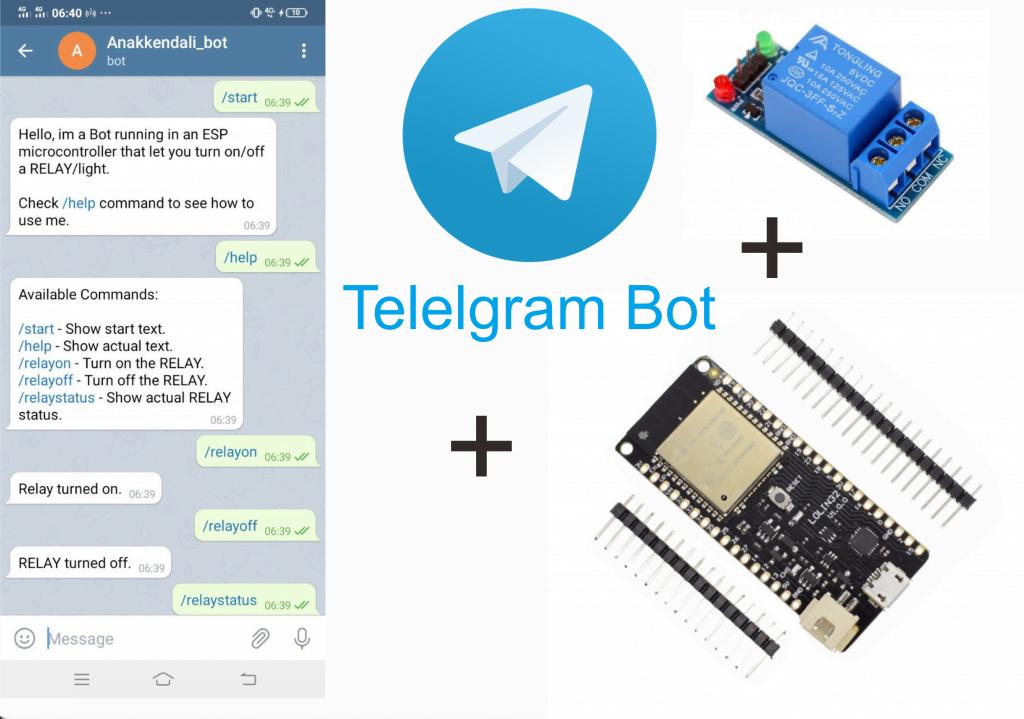 Belajar ESP32, Tutorial Kontrol Relay Telegram Bot