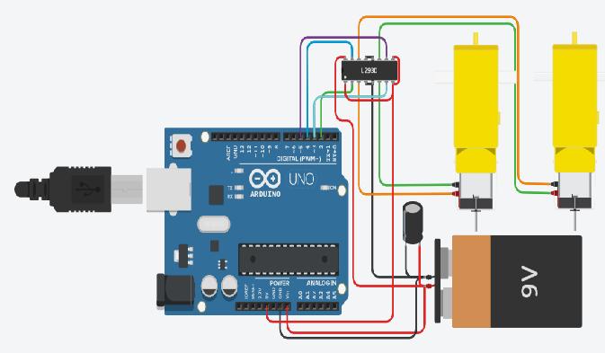 Tinkercad Arduino Membuat Simulasi Kontrol Motor DC L293D