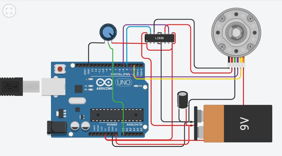 Arduino Membaca RPM Motor DC dengan Encoder Simulasi Tingkercad Sensor Jarak Encoder