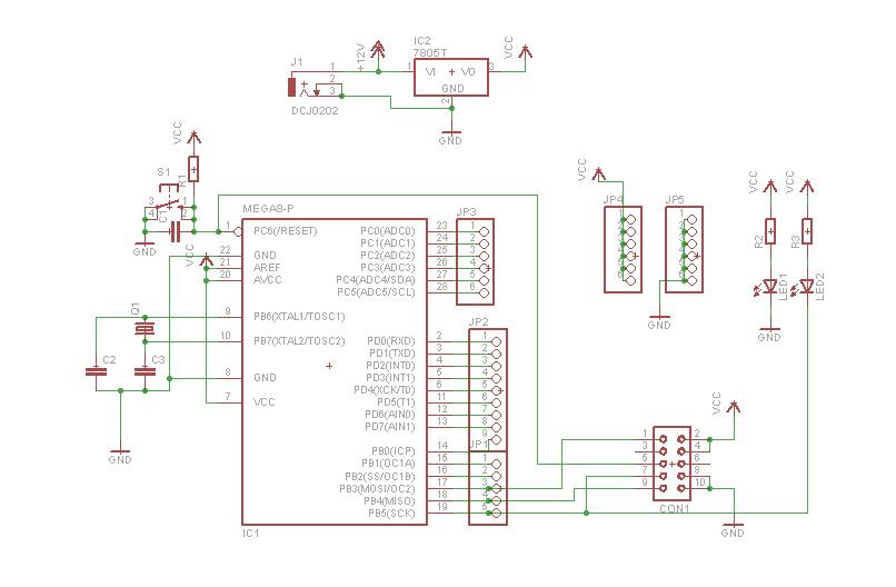 Sistem Minimum Atmega 328 / Atmega 8 V2