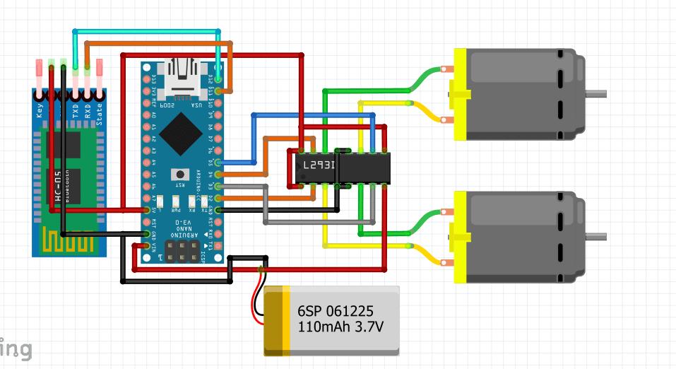 Tutorial Lengkap Membuat Robot Remote Control Bluetooth HC-05