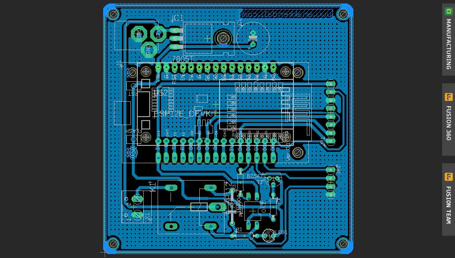 Download PCB Layout Door Lock NodeMCU Relay EAGLE