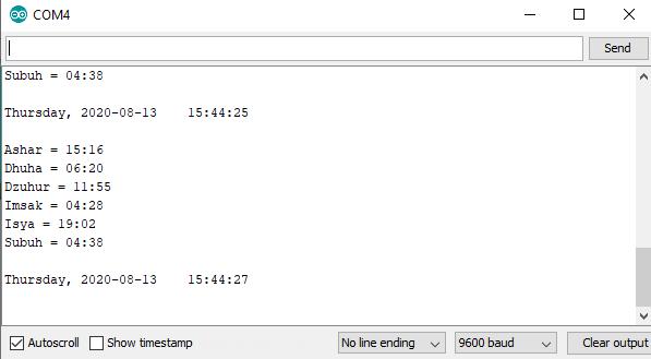 ESP8266/ESP32 Mengakses NTP Server dan Api Jadwal Waktu Sholat (JWS)