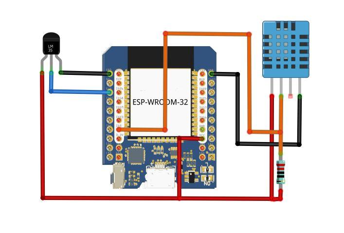 Tutorial ESP32 Monitoring Lm35 DHT11 Platform IoT UBEAC HTTP