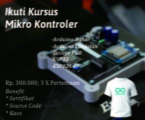 Kursus Arduino Online, IoT Online, ESP32, ESP8266