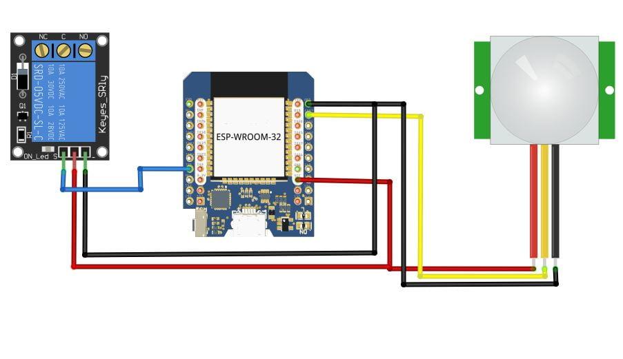 Tutorial ESP32 Kontrol Relay Dengan Sensor PIR