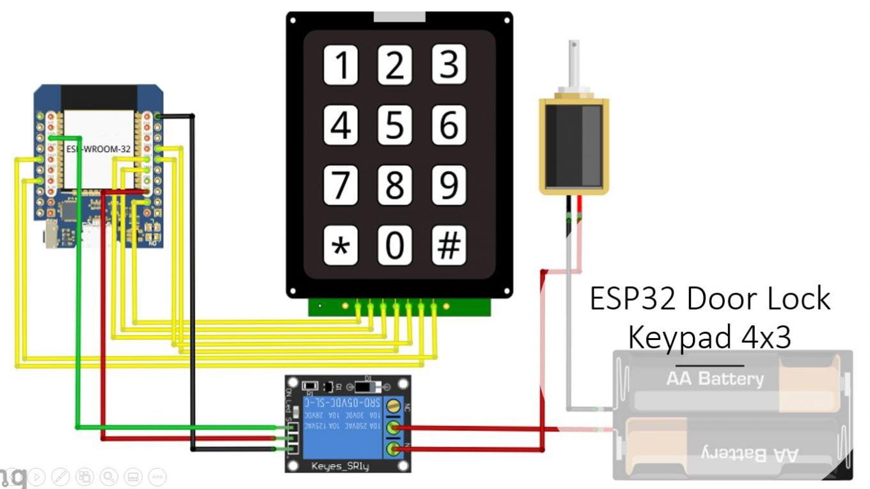 ESP32 Door Lock Keypad 4x3