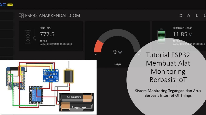 Tutorial ESP32 Monitoring Tegangan dan Arus Berbasis IoT dengan Server Ubeac