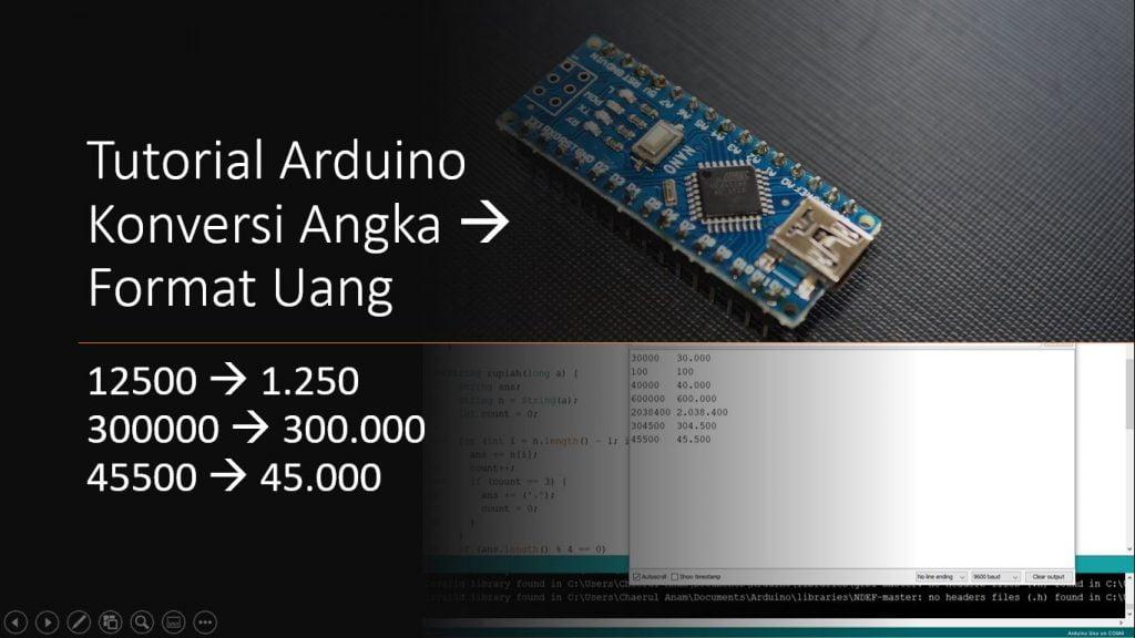 Tutorial Arduino Konversi Angka Ke Format Mata Uang