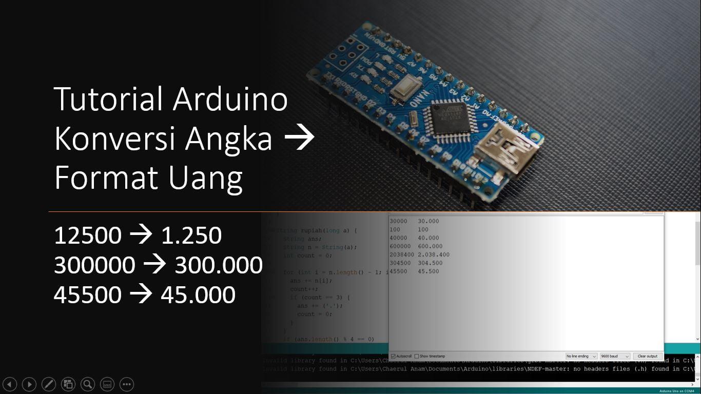 Arduino Angka Mata Uang