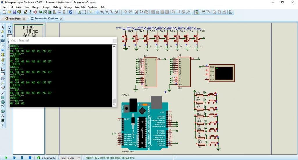 Solusi Arduino Memperbanyak Pin Input dengan Multiplexer CD4051