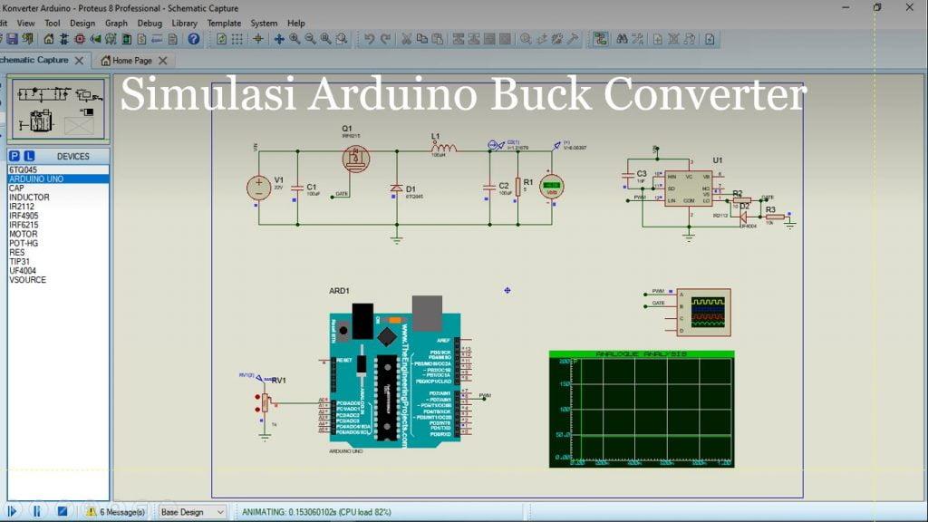 Tutorial Arduino Buck Converter Simulasi Proteus 8