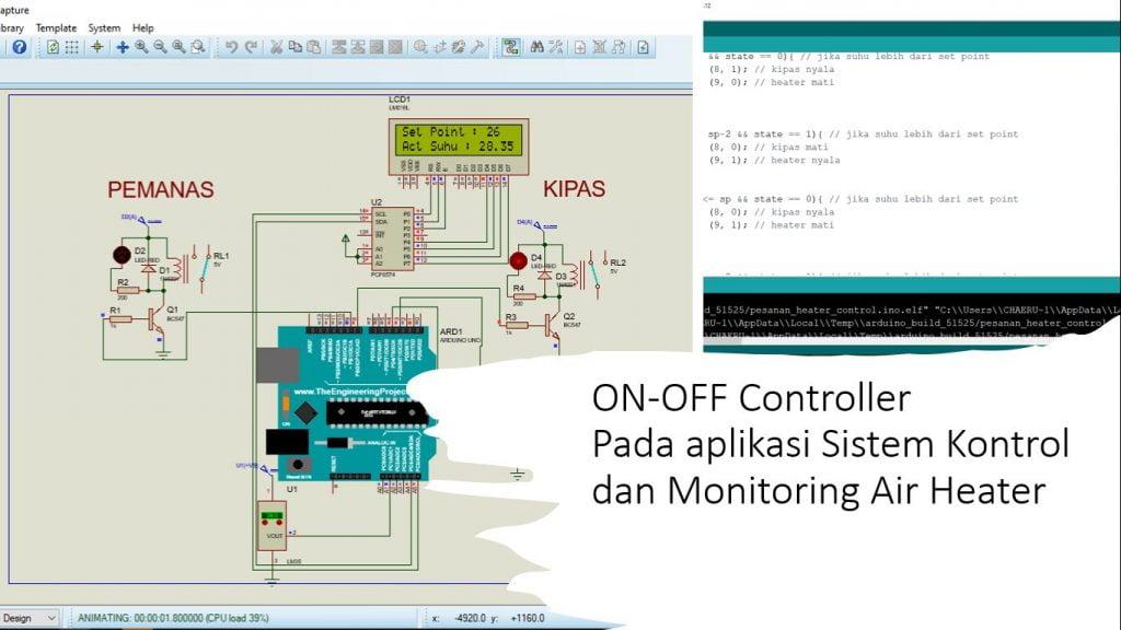 Aplikasi On Off Kontroler dengan Arduino Pada Sistem Air Heater